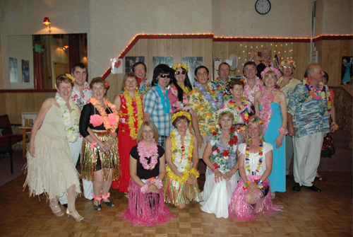 hawaian dance theme night